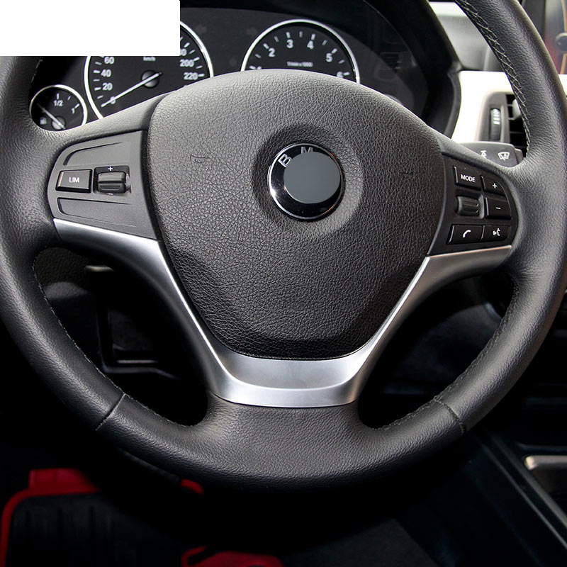Car Styling ABS Chrome Steering Wheel Cover Trim Sticker