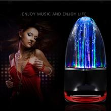 Subwoofer LED Music Fountain Water Dance Bluetooth Speaker With TF Card Slot Stereo Bass and Computer MP3 Audio Input 2016 Hot