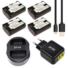 4pcs LP-E6 LP E6 LPE6 Bateria Recarregável + USB Dual Carregador para Canon 70D 5DII 5D2 5D3 7D 6D 60D com UE/EUA Adaptador de Tomada de Pino 2
