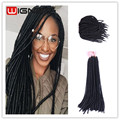 20 Inches Loop Micro Ring Hair Extensions Synthetic Faux Locs Crochet Hair Wavy Dreadlock Extension Twist Briads For Black Women