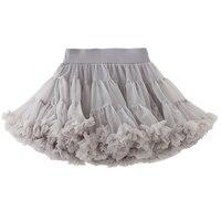 Fashion Ballet Skirt For Girls Multi Colors Dancewear Winter Children Performance Clothes Gray Practice Dancing Half Wear DC1218