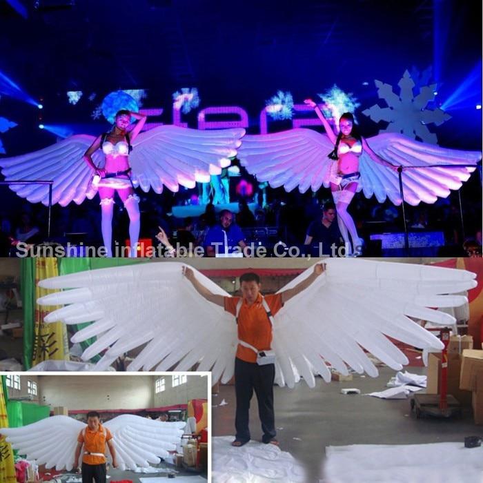 4mLong große weiße aufblasbare Engelsflügel, aufblasbare Flügelkostüm zu verkaufen