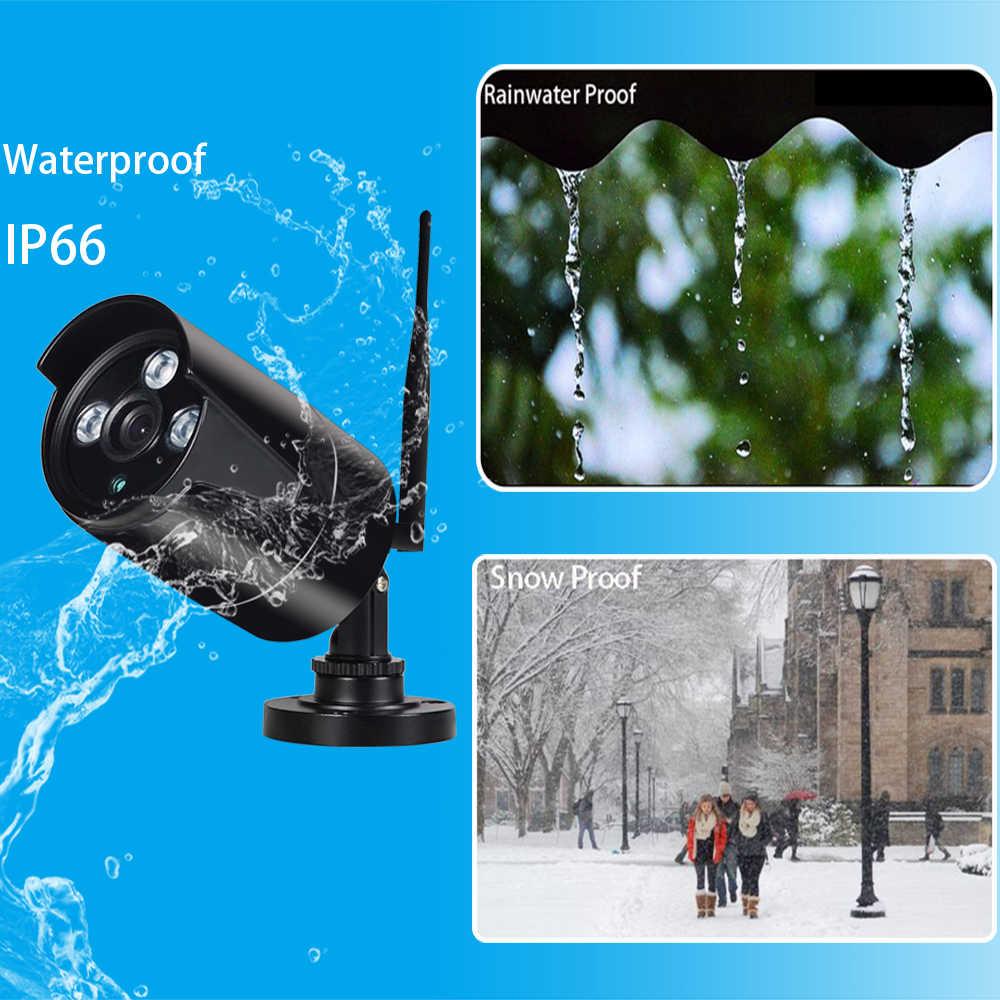 4CH/6CH/8CH 720P HD Kit sans fil NVR P2P 720P intérieur extérieur noir IR Vision nocturne sécurité 1.0MP IP caméra WIFI système de vidéosurveillance