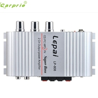 New Arrival Mini Hi Fi Amplifier Booster Radio MP3 Stereo For Car Motorcycle Home Silver