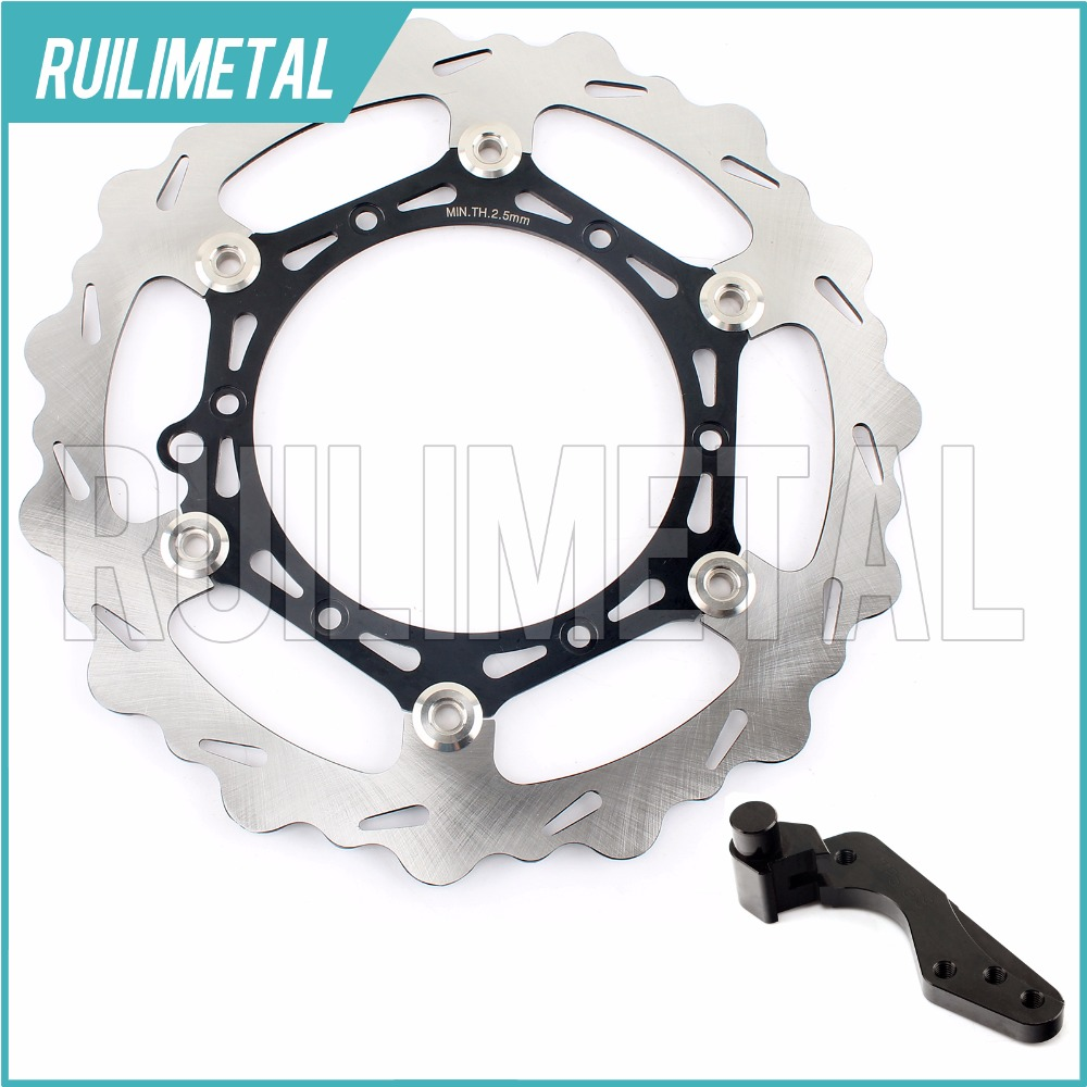270mm oversize Front Brake Disc Rotor Bracket Adaptor for KTM XC 450 W MX 500 SX F 505 XC EXC 520 MXC 525 G W 530 R SXC 540 SXS high quality 270mm oversize front mx brake disc rotor for yamaha yz125 yz250 yz250f yz450f motorbike front mx brake disc