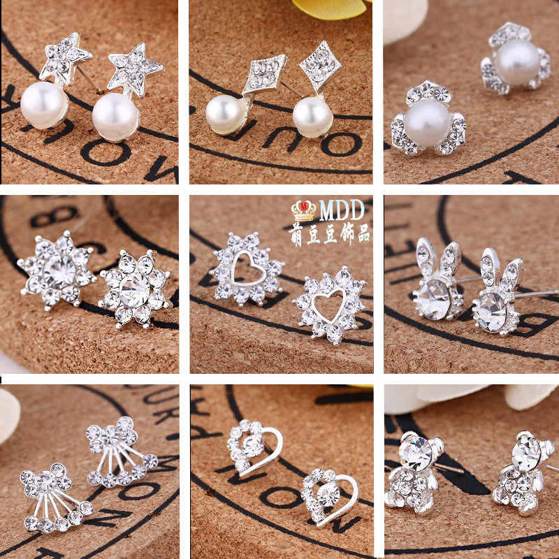 Women's Jewelry Fashion Hot Creative Pair Of Earrings New Pearl Earrings Small Jewelry Wholesale
