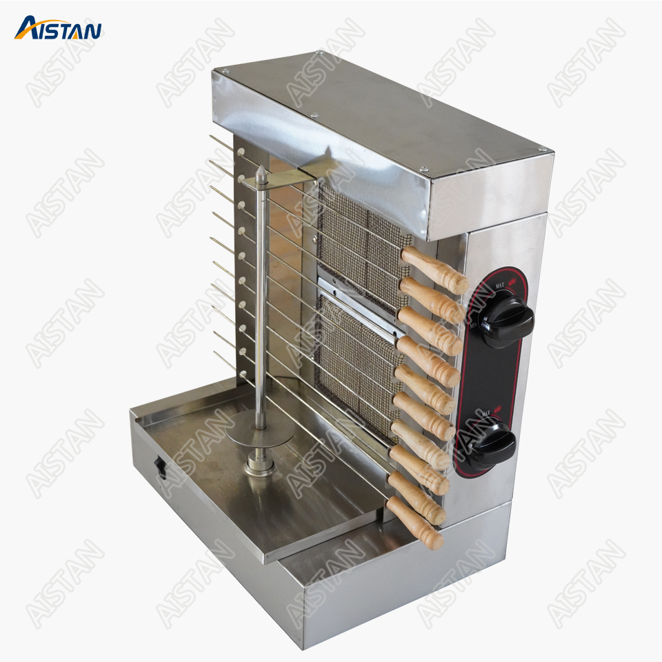 GB25A 2 Head Gas Doner Kebab Roaster Rottisseries Rotary Machine Stainless Steel for Commercial Use gh2 gas range with 2 burner for commercial use