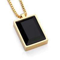Хороший подарок небольшой кулон Цепочки и ожерелья Простой Роскошный Черный квадрат создана жемчужина кристалл горный хрусталь колье розо...