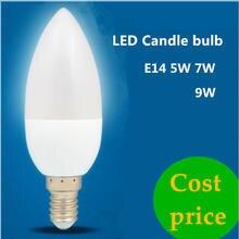 1X5W 7W E14 9W Conduziu a Lâmpada Da Vela 220V Save Energy holofotes Quente/frio branco cristal chandlier Lâmpada Ampola Bombillas Luz Em Casa