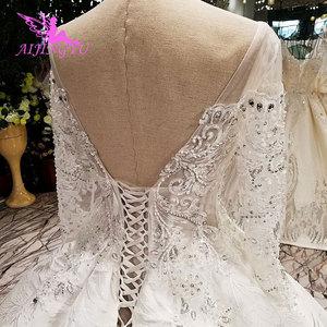 Image 5 - AIJINGYU Pakistanischen Hochzeit Kleider Kleider Nähen Auf Kristall Perlen Erschwinglichen Kleid Geschäfte Hochzeit Kleid Spitze