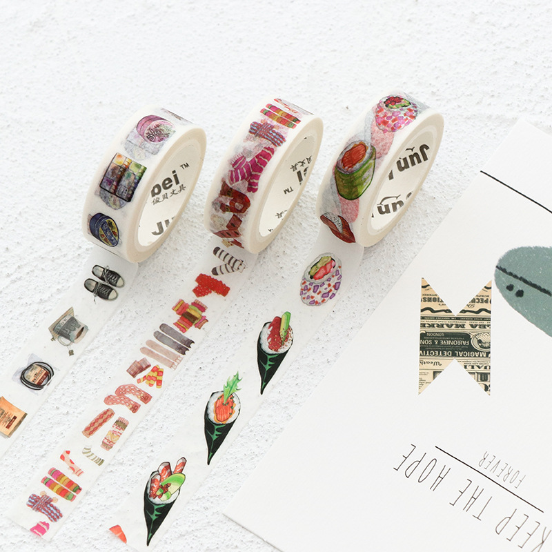 Kawaii succulent plants Washi Tape Diy Fita Decorativa Masking Adesiva Decorada Tapes Cute Washitape Decorative Adhesive Tape student cute kawaii green plant washi tape colored flower masking adhesive tapes decorative stickers for diy diary 596