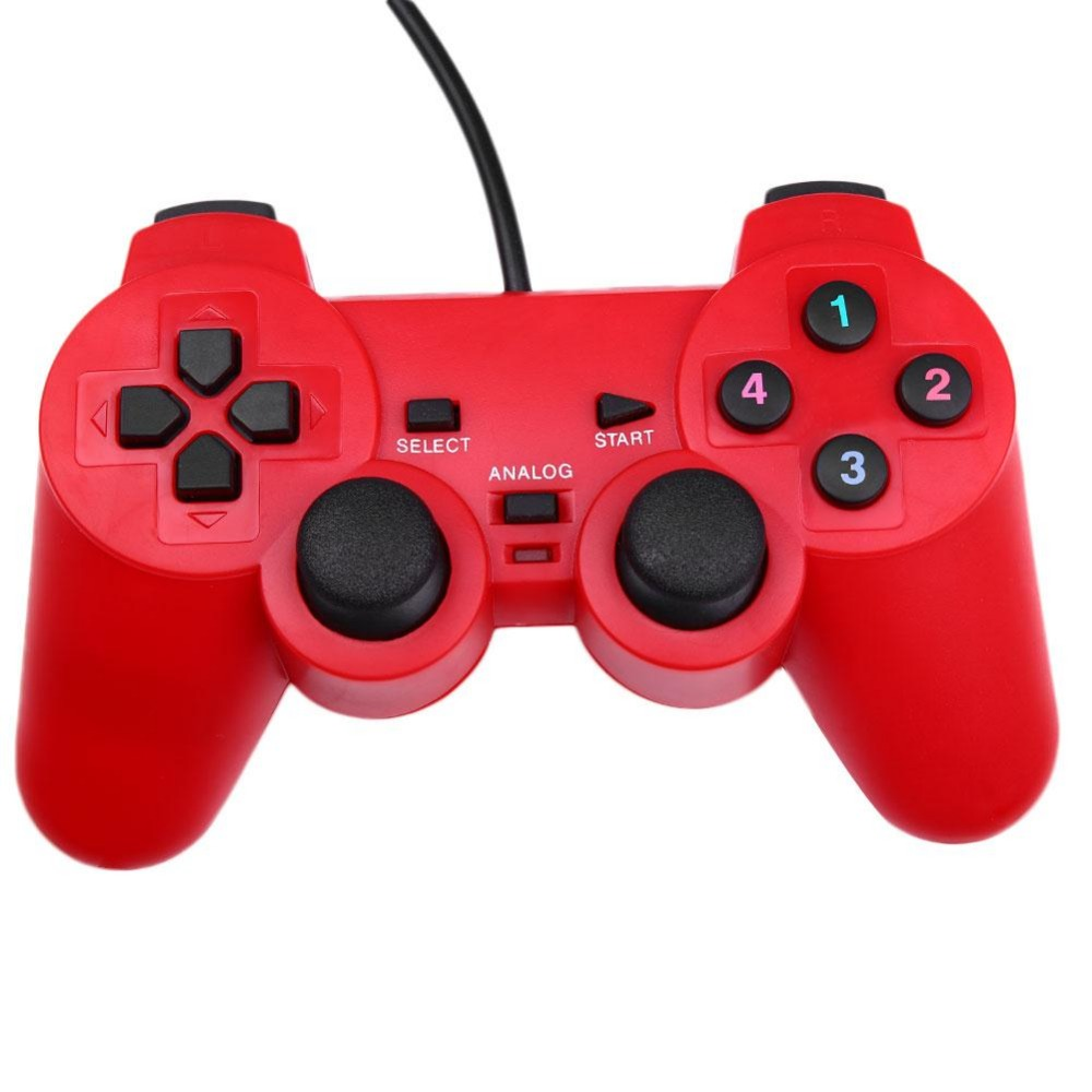 Gasky Vibration USB Wired ABS Game Controller Gamepad Joystick Windows PC Gift dilong pu305 wired single dual vibration usb game joystick controller for pc red black