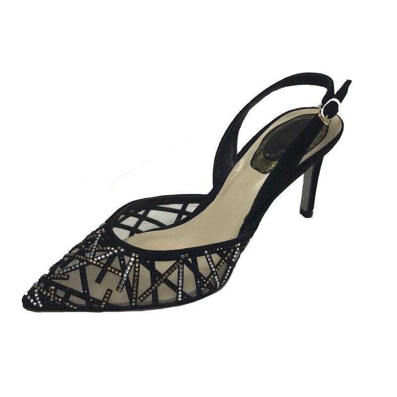 Verano black Mujer Bout Feminina Sandales Strass 2019 Nouveau Femmes Stiletto Chaussures Dames Pour Pictures Zapatos D'été black 6cm Noir 10cm Luxe Pointu Follow black Sandalia More 8cm wqafTgg