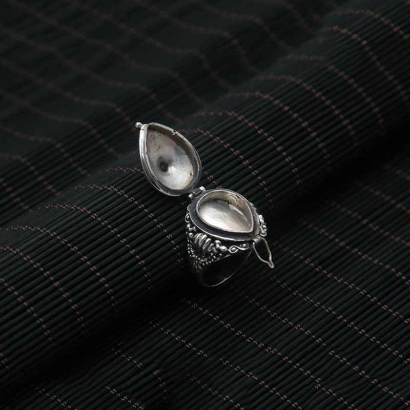 Лидер продаж Karma мини коробка фото можно хранение вещей jewelry Кольцо из стерлингового серебра 925 для женщин или мужчин обручальное кольцо 925 ювелирные изделия G2