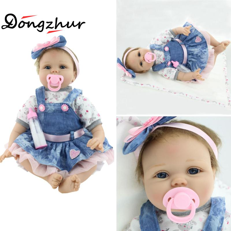 Dongzhur Simulation Full Silicone reborn Baby Doll Npkdoll Can Enter The Water Bath Baby Toys Multi-style Silicone Newborn Dolls npk black skin full silicone girl pacifier model baby dolls 56cm lifelike reborn baby boneca can enter water bath doll toys