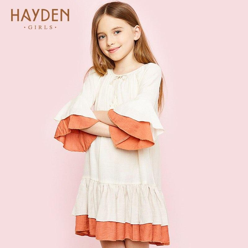 3dd0a5ca03fa Hayden подростков нарядные платья для девочек 2017 летние подростков ...