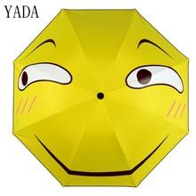 YADA Custom Charms Cartoon Folding Funny Umbrella Rain Women uv High Quality For Womens brand Windproof Umbrellas YS268