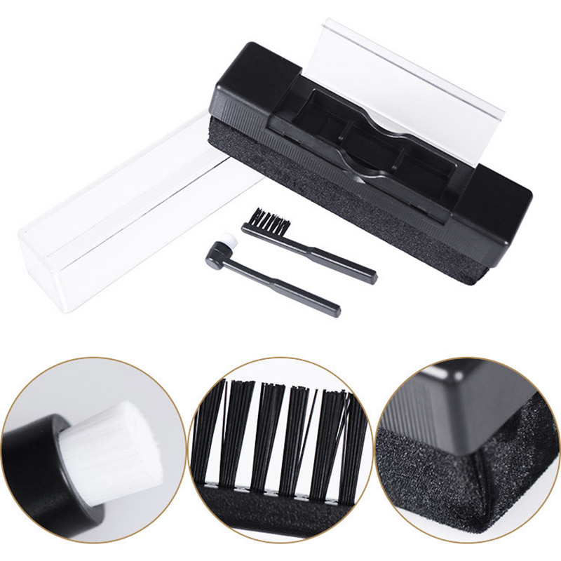 Vinyl Record Cleaning Brush Anti Static Turntable Cleaner Portable Antistatic Dust Spots Speaker Accessories