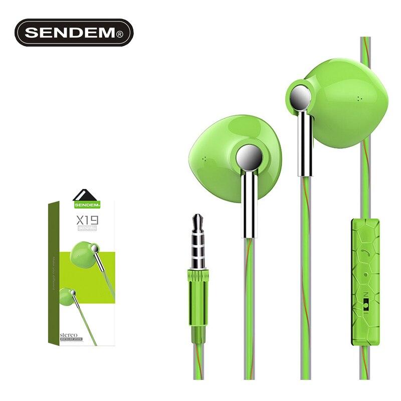 SENDEM X19 Magnetic Stereo BASS in-Ear Earphone Noise Cancelling Headsets DJ In-Ear Earphones HiFi EarPhone for huawei xiaomi