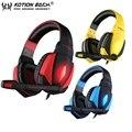 Each g4000 stereo surround usb calidad superior con cancelación de ruido auriculares de juegos de auriculares de sonido de luz led con el mic para pc equipo