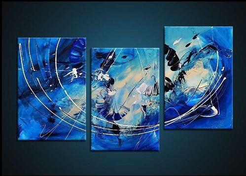 Peint à la main Le ciel bleu Haute Q. mur Décor Moderne