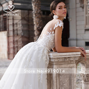 Image 5 - Wedding Dress 2 In 1 Mermaid Detachable Train Appliques Sweetheart Bridal Gown Princess Swanskirt K149 Vestido de novia