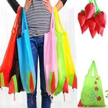 Новые Нейлоновые складные многоразовые хозяйственные сумки Клубника Эко сумка для хранения клубника виноград ананас Складная хозяйственная сумка