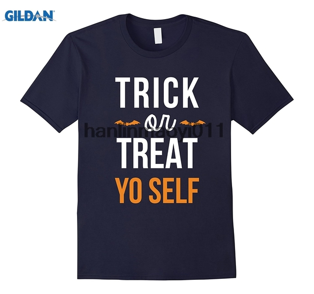 GILDAN Best Seller Trick And Treat Yo Self Funny Halloween Quote