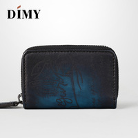 Dimy Genuine Leather Key Wallets Multi Function Key Case Fashion Housekeeper coin Holders for Men & Women Car Key Bag 4 Rings