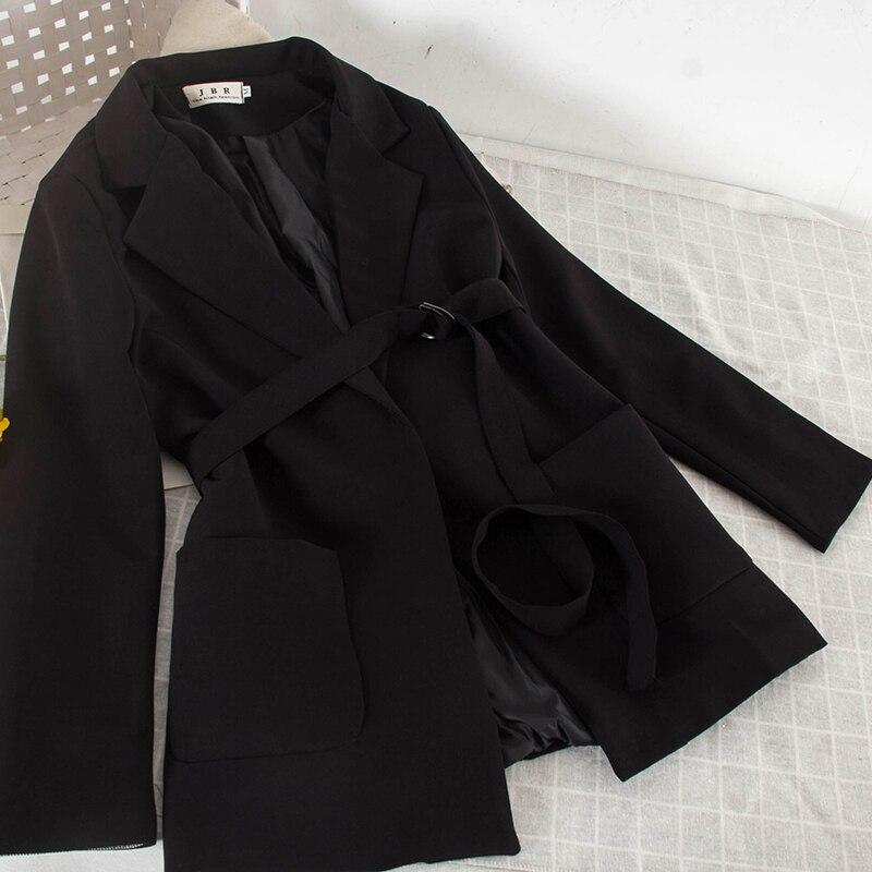 Col Polyvalent Ol Et Veste Simple 2019 Mince kaki De 3489 Manteau Noir Bretelles Mode Costume gris Femmes Nouvelle Couche w4PfS7qz