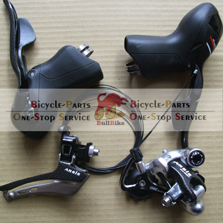 10/2 Speed microSHIFT carbon Shifters front rear Derailleur compatible  for road bike groupset control system microshift road bike shifters 2 10 compatible for shimano 105 5700 tiagra 4600 10 speed double sti lever set