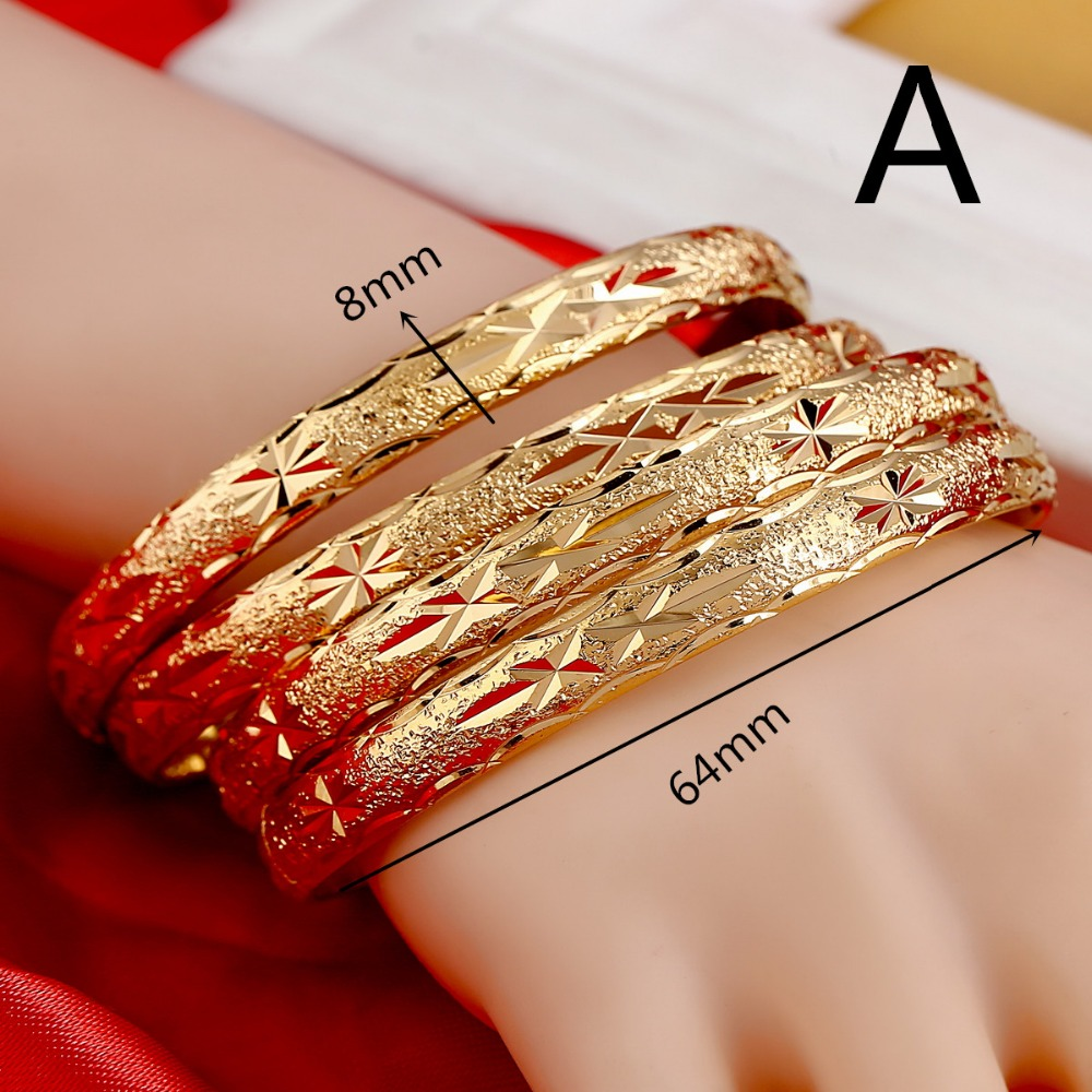 Rhodium Silver Finish Georgia Engraved Brass Simple Bangle Fashion Jewelry Bracelet For Women Gold Cotton Filled Gift Box for Free