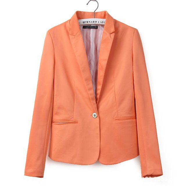 new hot stylish and comfortable women's Blazers Candy color lined with striped suit Free Shipping WL2314 3
