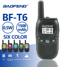 Buy 2019 New Baofeng T6 Mini Walkie Talkie 0.5w FRS PMR Handheld Two Way Radio Kids Toy Interphone Ham Radio Comunicador Transceiver directly from merchant!