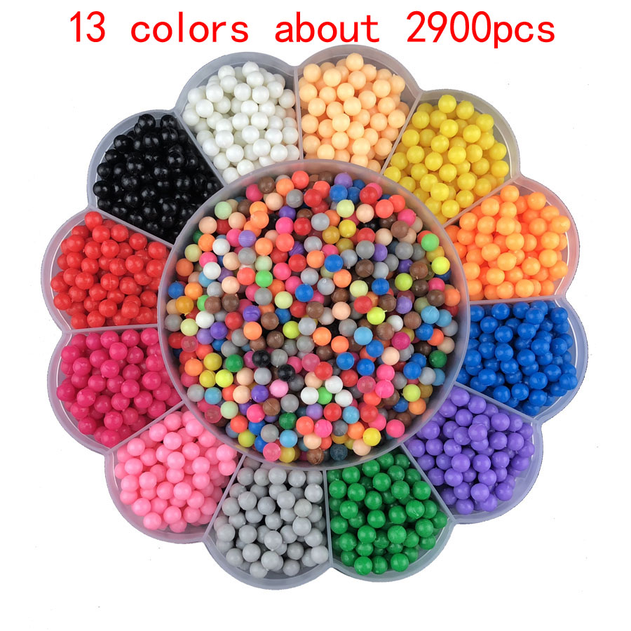 Aqua DIY Magic Beads Animal Molds Hand Making 3D Puzzle Kids Educational Beads Toys For Children Spell Replenish