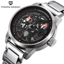 PAGANI DESIGN Mens Watches Hollow Skeleton Mechanical For Man Waterproof Stainless Steel Men Wristwatch Reloj Hombre