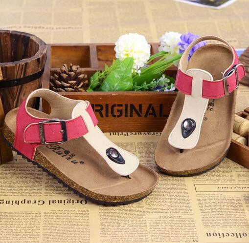 e4a14c5cd244 2015 new fashion summer kids shoes brand birkenstock sandals boys and girls  cork sandalias children s shoes 10 color