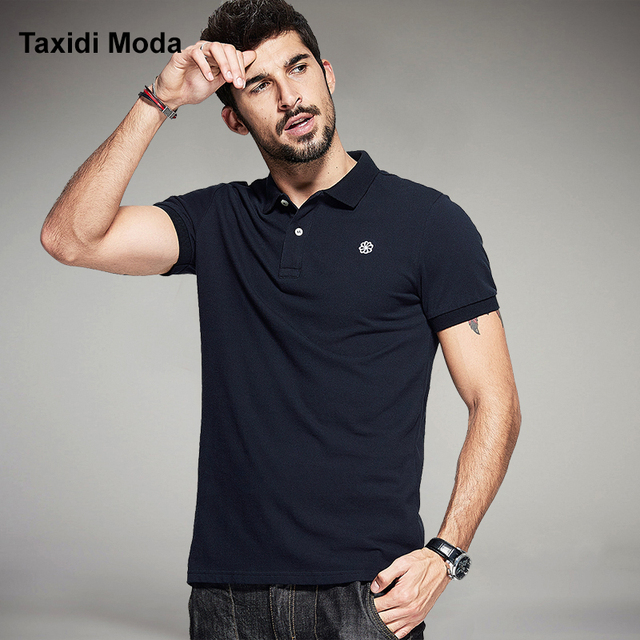 Summer Mens Casual Polo Shirts 100% Cotton Embroidered Logo Brands Clothing Gents Luxury Solid Man's Slim Clothes