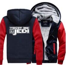 HAMPSON LANQE Star Wars Im A Jedi Movie Jackets For Men 2019 Winter Warm Fleece Sweatshirts Hoodies Thicken Hooded M-5XL
