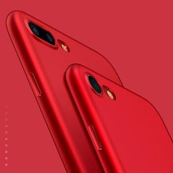 Étui pour iPhone 7 6 6S X 8 Plus XS 360 étui complet mince mat doux étui en polyuréthane thermoplastique pour iPhone 7 XR XS MAX coque de téléphone rouge