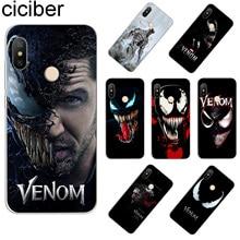 ciciber For Xiaomi Redmi 6 5 4 3 A X S Plus Pro S2 Clear Soft TPU Marvel DC Venom Phone Case Note Capa