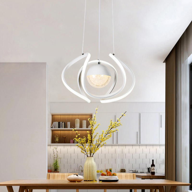 Two Lights Led Pendant Lights Modern Creative Acrylic Hanglamp Foyer Dining room Bar Hanging Light Fixtures Home DecorationTwo Lights Led Pendant Lights Modern Creative Acrylic Hanglamp Foyer Dining room Bar Hanging Light Fixtures Home Decoration