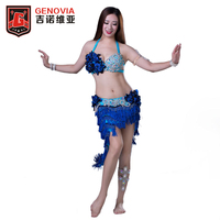 Women Professional Belly Dance Costume Bras Skirt 2 Pieces Bollywood Oriental India Dance Costumes Drum Solo