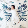 Letras Coroa Envoltório Criança Swaddle Musselina Cobertores do bebê Recém-nascido Gaze Multifuncional Cama Cobertor Cobertores Crianças Decorativo