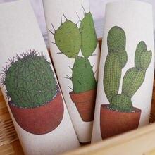 3 шт/компл крашеные вручную хлопковые и льняные ткани кактус