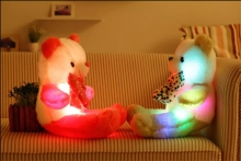 Fashion Flashing LED Light Inside Stuffed Plush Teddy Bear 50cm Tall  With Music Playing/Sounding Bear Christamas Gift