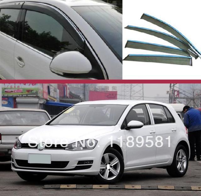 For VW Golf MK7 2014 2015 2016 Window Wind Deflector Visor Rain/Sun Guard Vent new