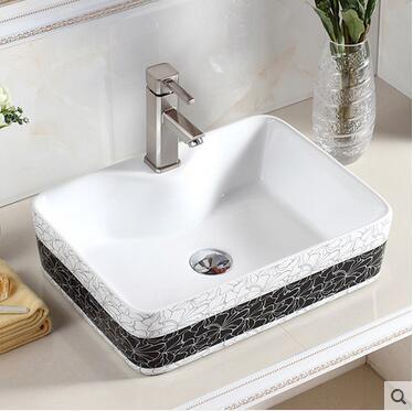 Контракт Туалет Раковина на керамические горшки прямоугольник бассейна умывальник ванной Искусство Бассейна