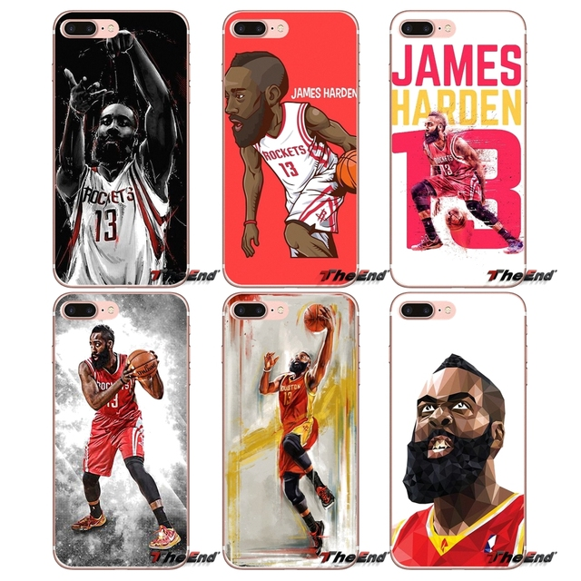 141ab6f6e92 James Harden Star Basketball For iPhone X 4 4S 5 5S 5C SE 6 6S 7 8 Plus  Samsung Galaxy J1 J3 J5 J7 A3 A5 2016 2017 Soft TPU Case