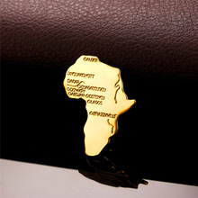 Africa Map Women Men Pins and Brooches Multi functional Gold Silver Color African Jewelry Women Accessories